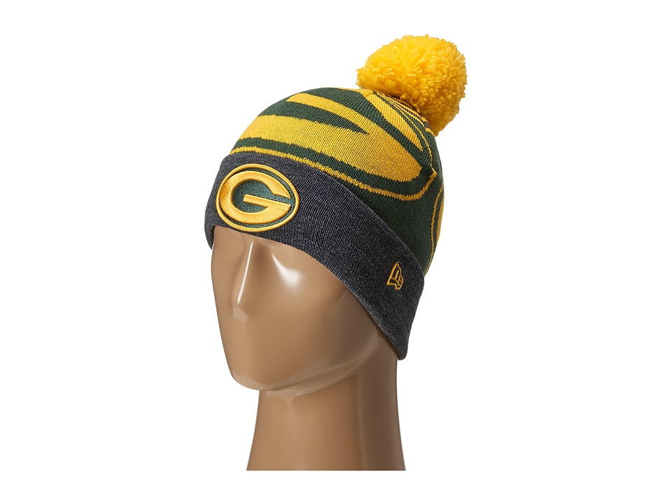 New Era - Logo Whiz Green Bay Packers Black Team (Dark Green) Traditional Hats