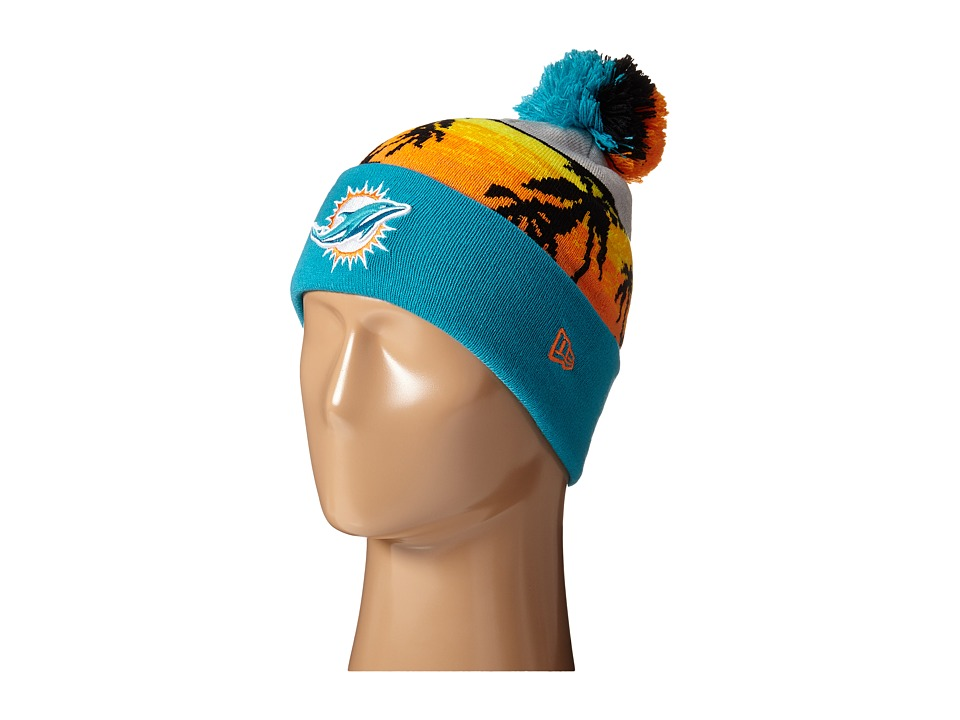 New Era - Winter Beachin Miami Dolphins (Turquoise/Aqua) Beanies