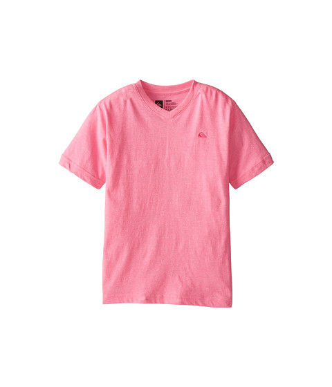 Quiksilver Kids - Core Daily Tee (Big Kids) (Hot Pink Heather) Boy's Short Sleeve Pullover