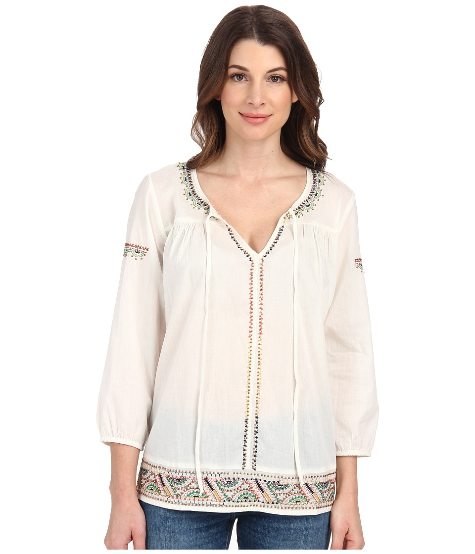 Velvet by Graham & Spencer - Dalene Long Sleeve Top (Off White) Women's Clothing