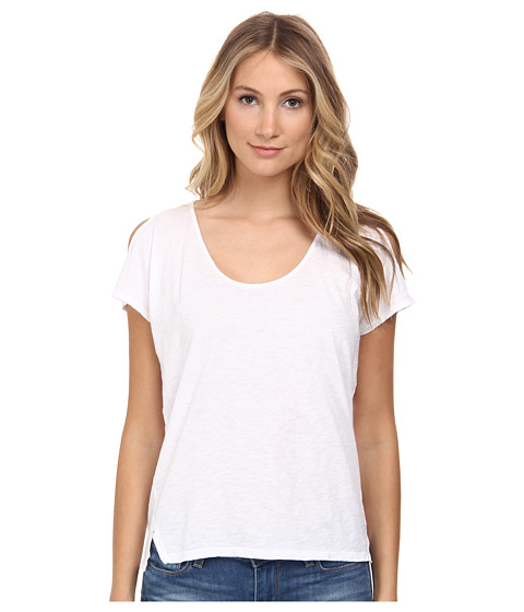 Velvet by Graham & Spencer - Amaria Cold Shoulder Top (White) Women's T Shirt