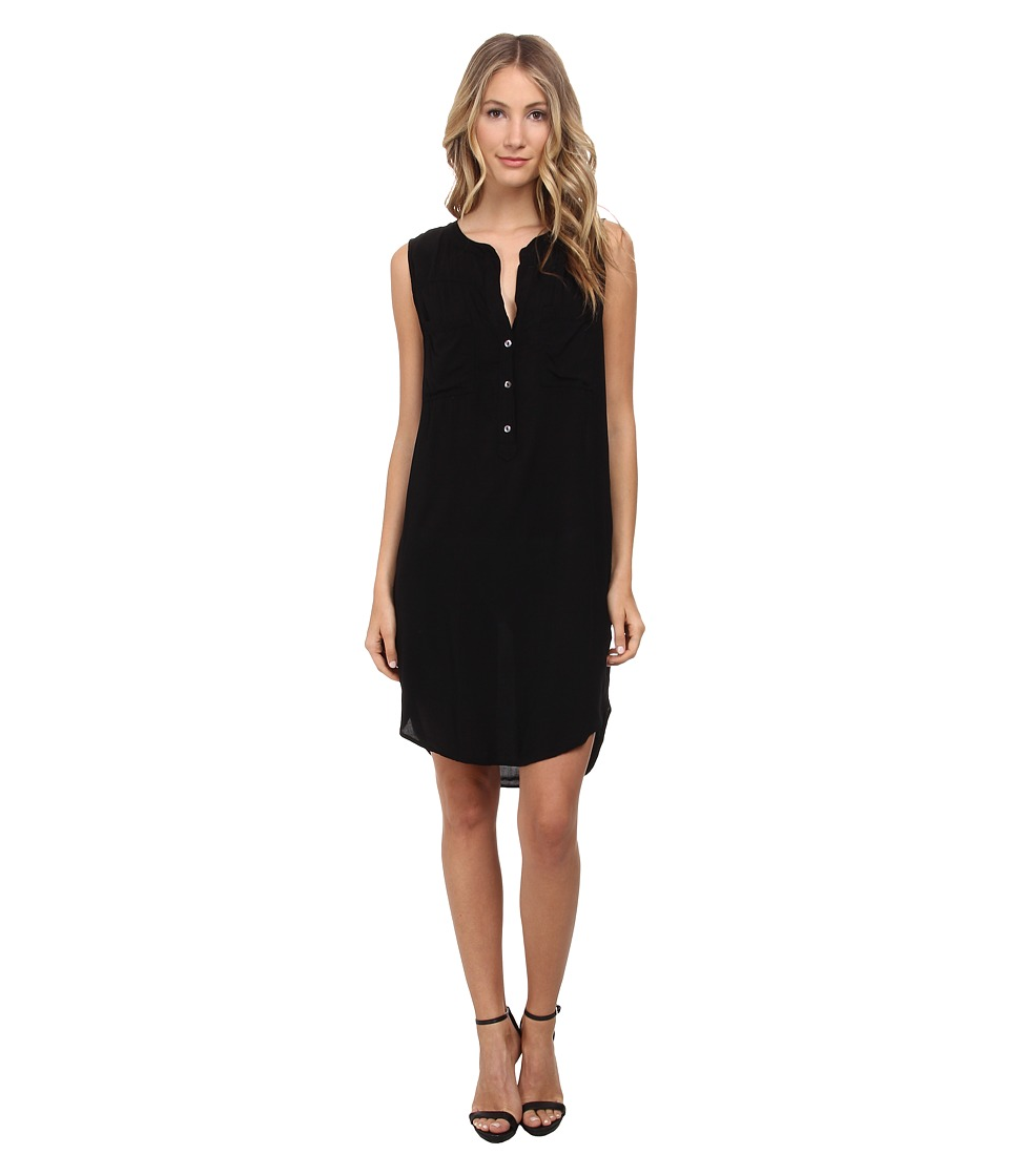 Velvet by Graham & Spencer - Eliah Sleeveless Challis Dress (Black) Women's Dress
