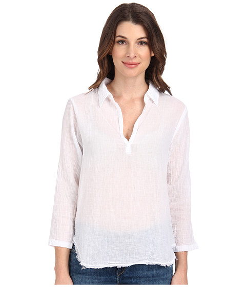 Velvet by Graham & Spencer - Veleda Polo Shirt (White) Women's Short Sleeve Pullover