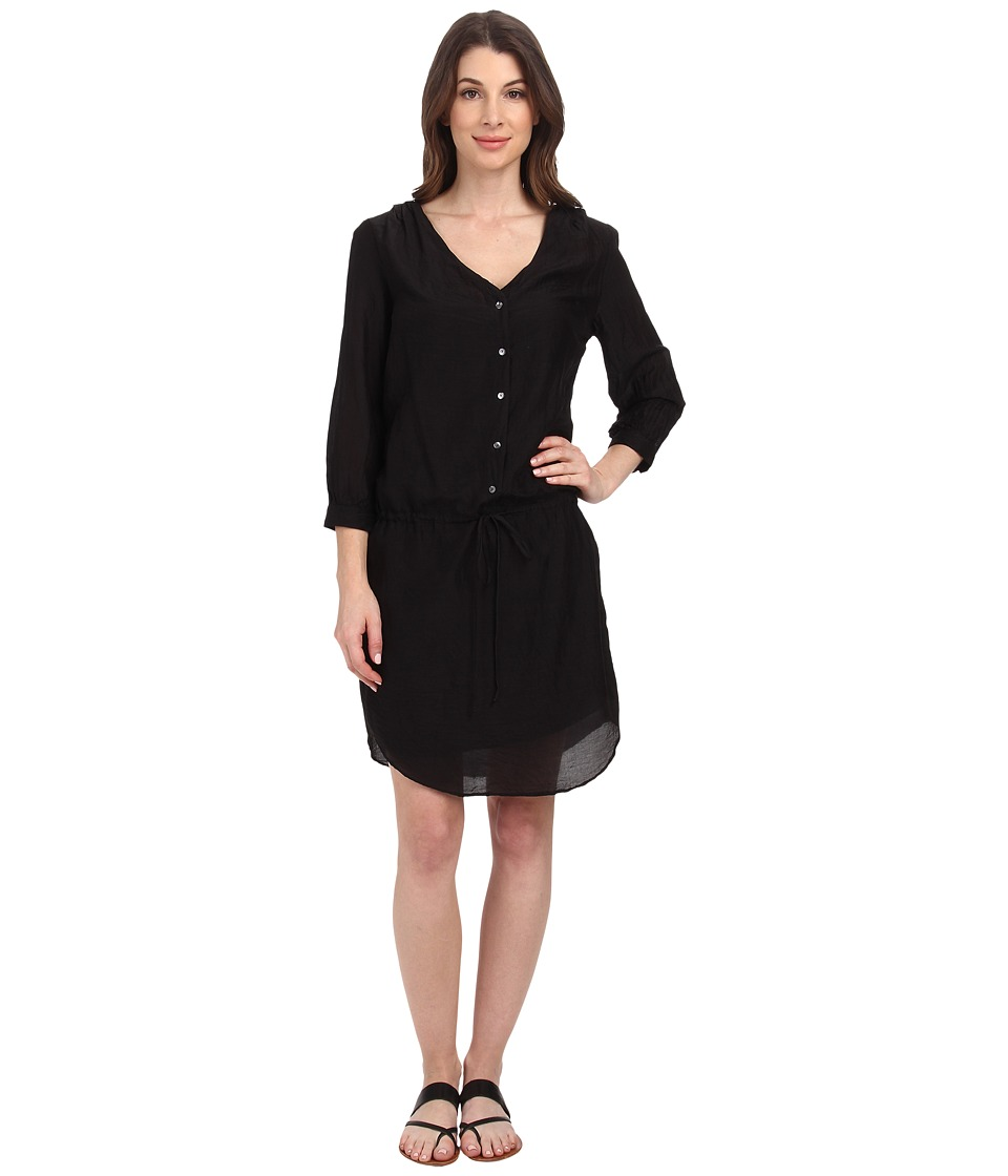 Velvet by Graham & Spencer - Abber Voile Shirtdress (Black) Women's Dress