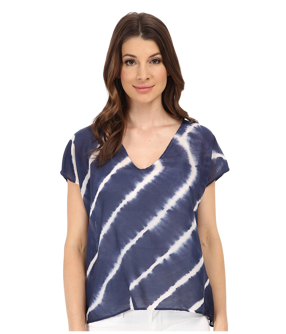 Velvet by Graham & Spencer - Abila Voile Tee (Blue) Women's Blouse