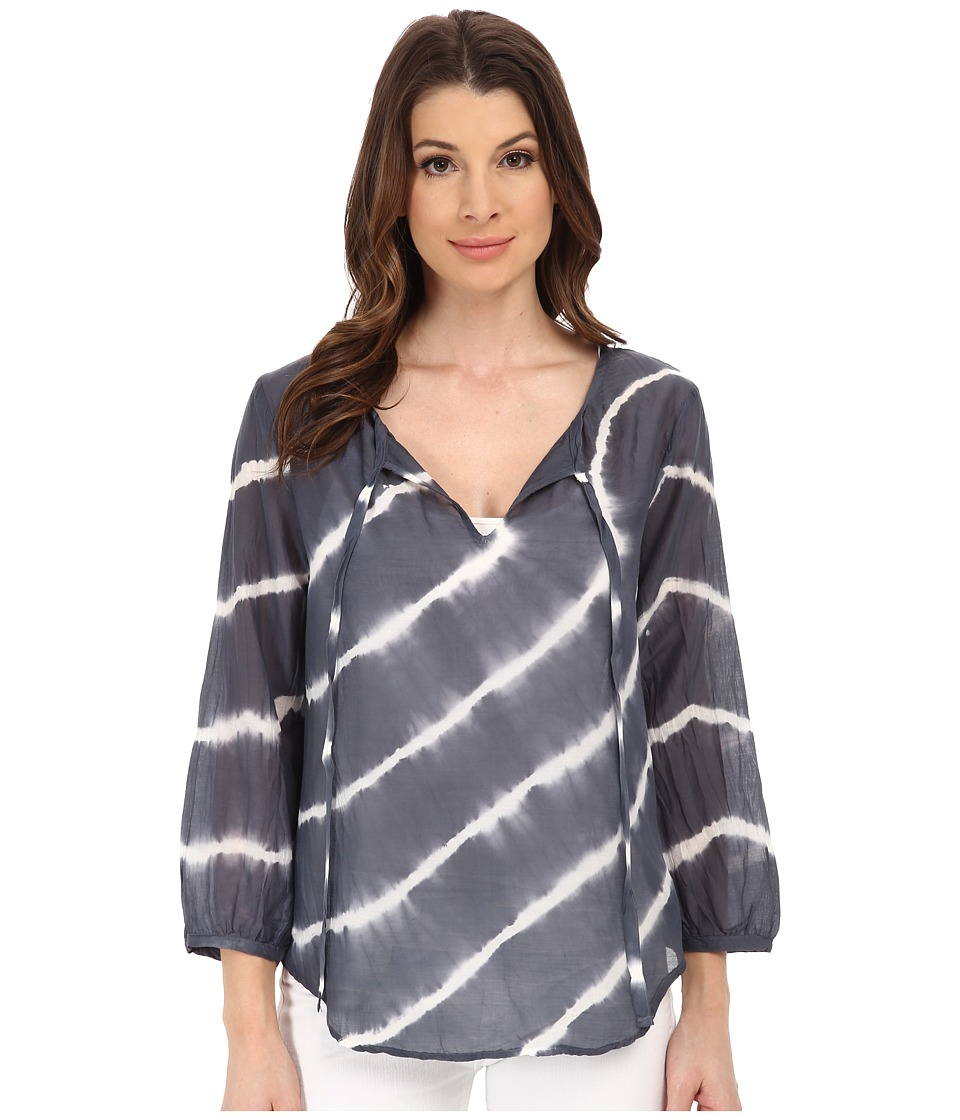 Velvet by Graham & Spencer - Edana Voile Tie-Dye Top (Grey) Women