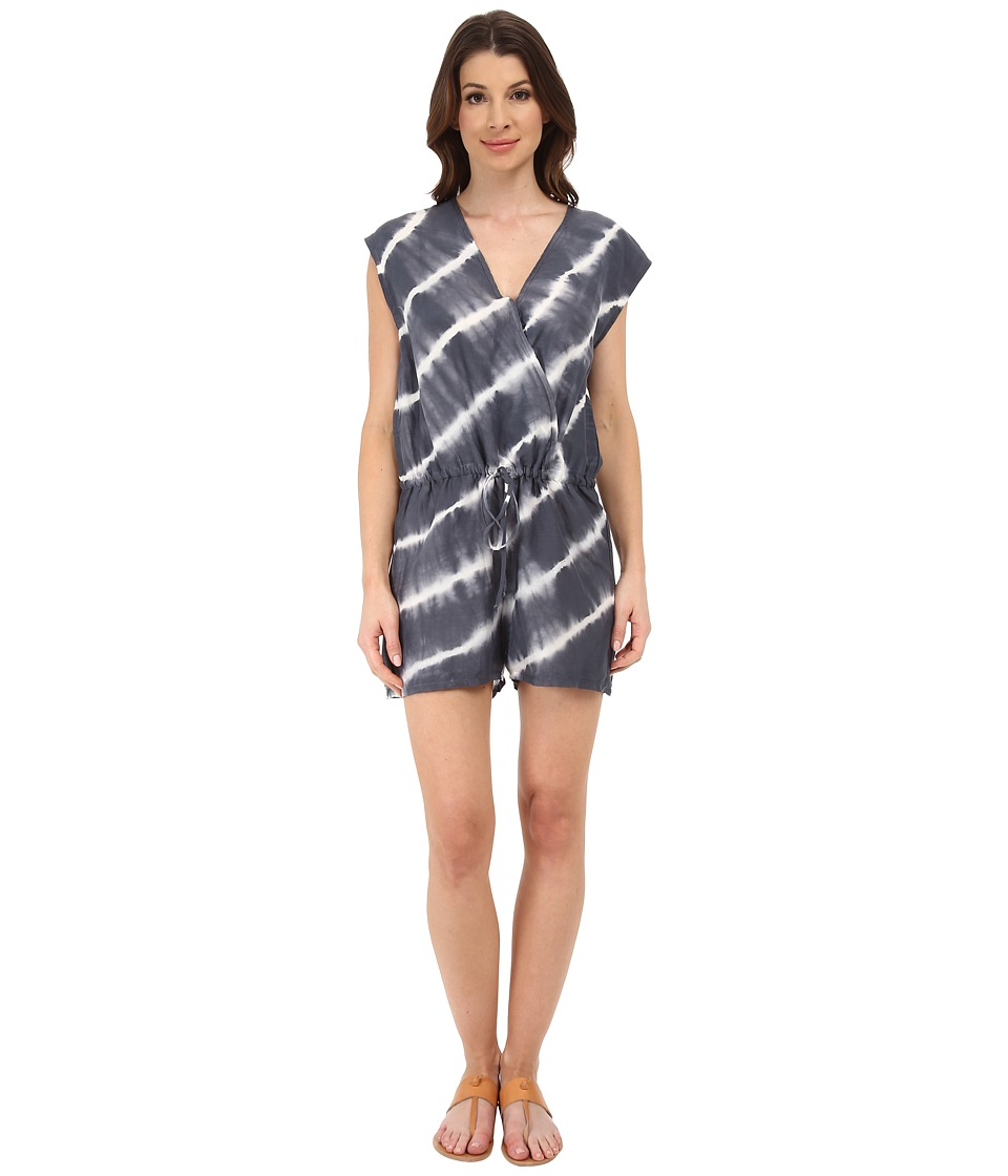 Velvet by Graham & Spencer - Haiti Voile Tie-Dye Romper (Grey) Women's Jumpsuit & Rompers One Piece