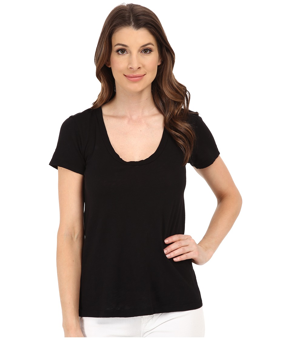 Velvet by Graham & Spencer - Bay Short Sleeve Scoop Tee (Black) Women's T Shirt