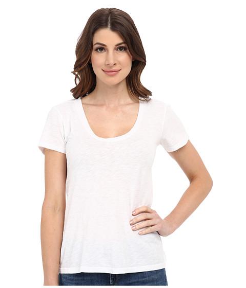 Velvet by Graham & Spencer - Bay Short Sleeve Scoop Tee (White) Women