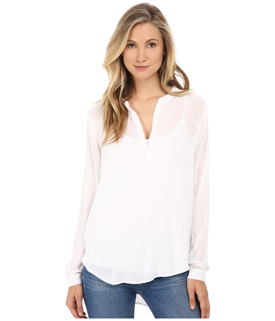 Velvet by Graham & Spencer - Rosie Long Sleeve Challis Top (White) Women's Blouse