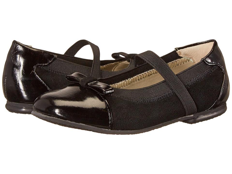 Jumping Jacks Kids - Destiny Balleto (Toddler/Little Kid/Big Kid) (Black Suede/Black) Girls Shoes