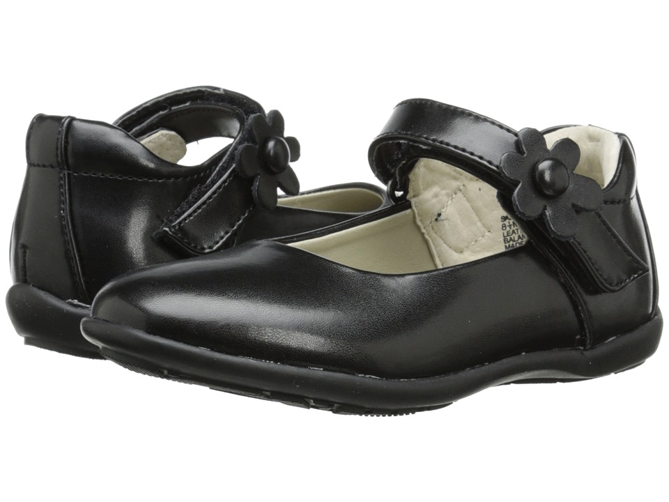 Jumping Jacks Kids - Sally Balleto (Toddler/Little Kid/Big Kid) (Black Smooth Leather) Girls Shoes