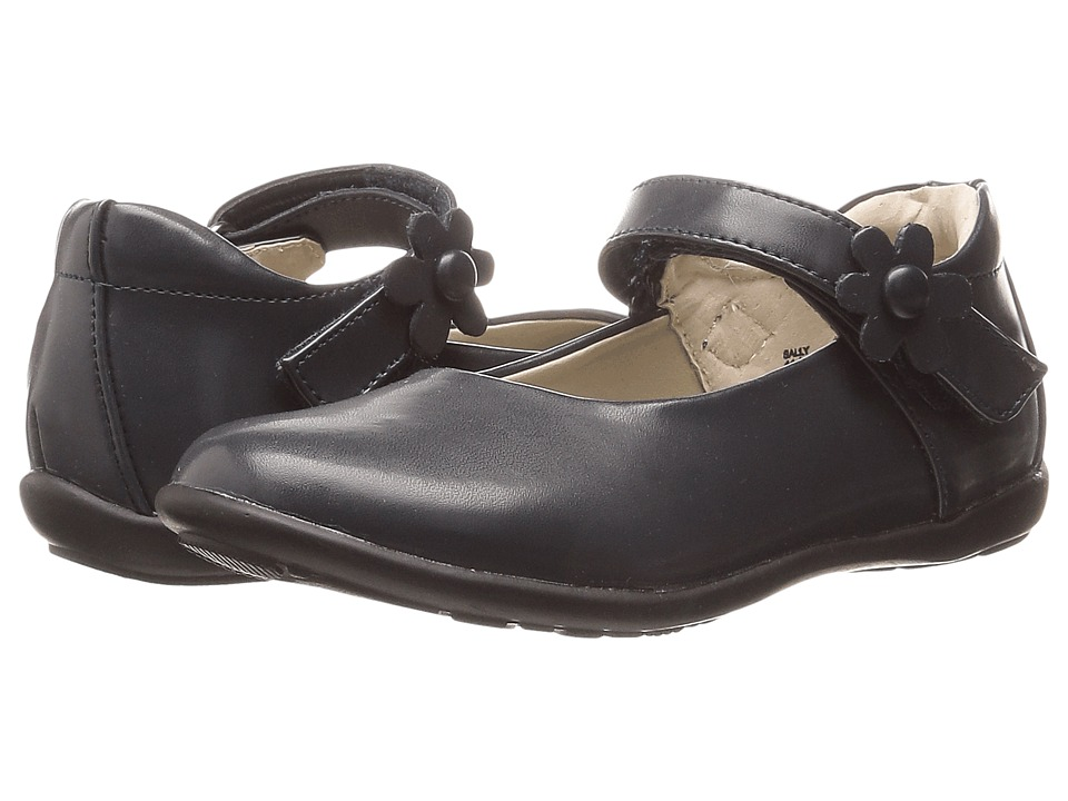 Jumping Jacks Kids - Sally Balleto (Toddler/Little Kid/Big Kid) (Navy Smooth Leather) Girls Shoes