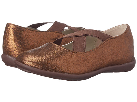 Jumping Jacks Kids - Sophia Balleto (Toddler/Little Kid/Big Kid) (Copper Glitter/Dark Brown) Girls Shoes