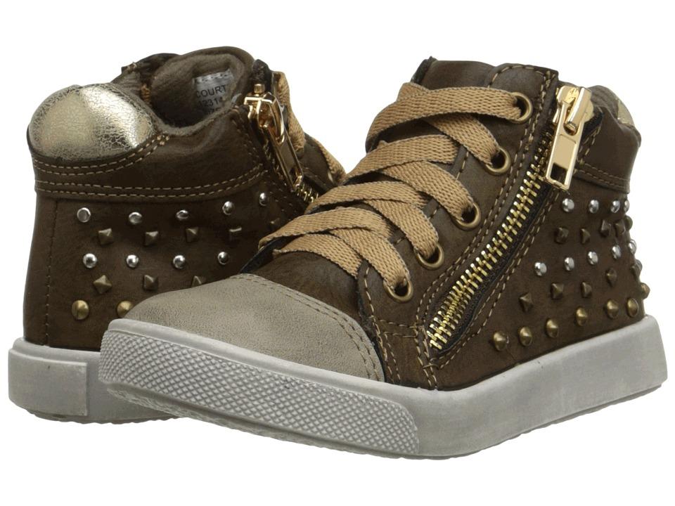Jumping Jacks Kids - Courtney Balleto (Toddler/Little Kid) (Brown Smooth/Light Gray) Girls Shoes