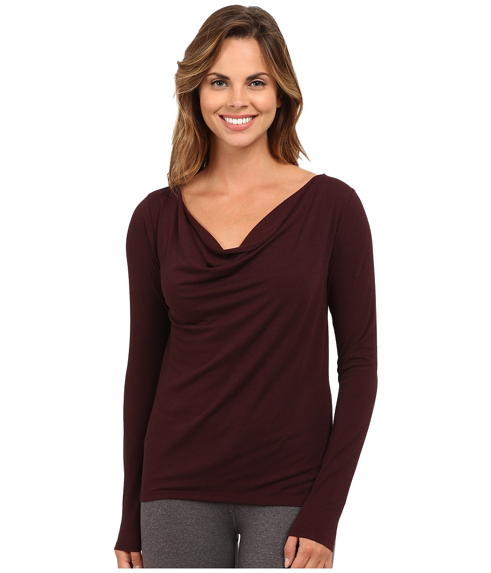 Lucy - Enlightening Long Sleeve Top (Wild Plum Heather) Women's Long Sleeve Pullover