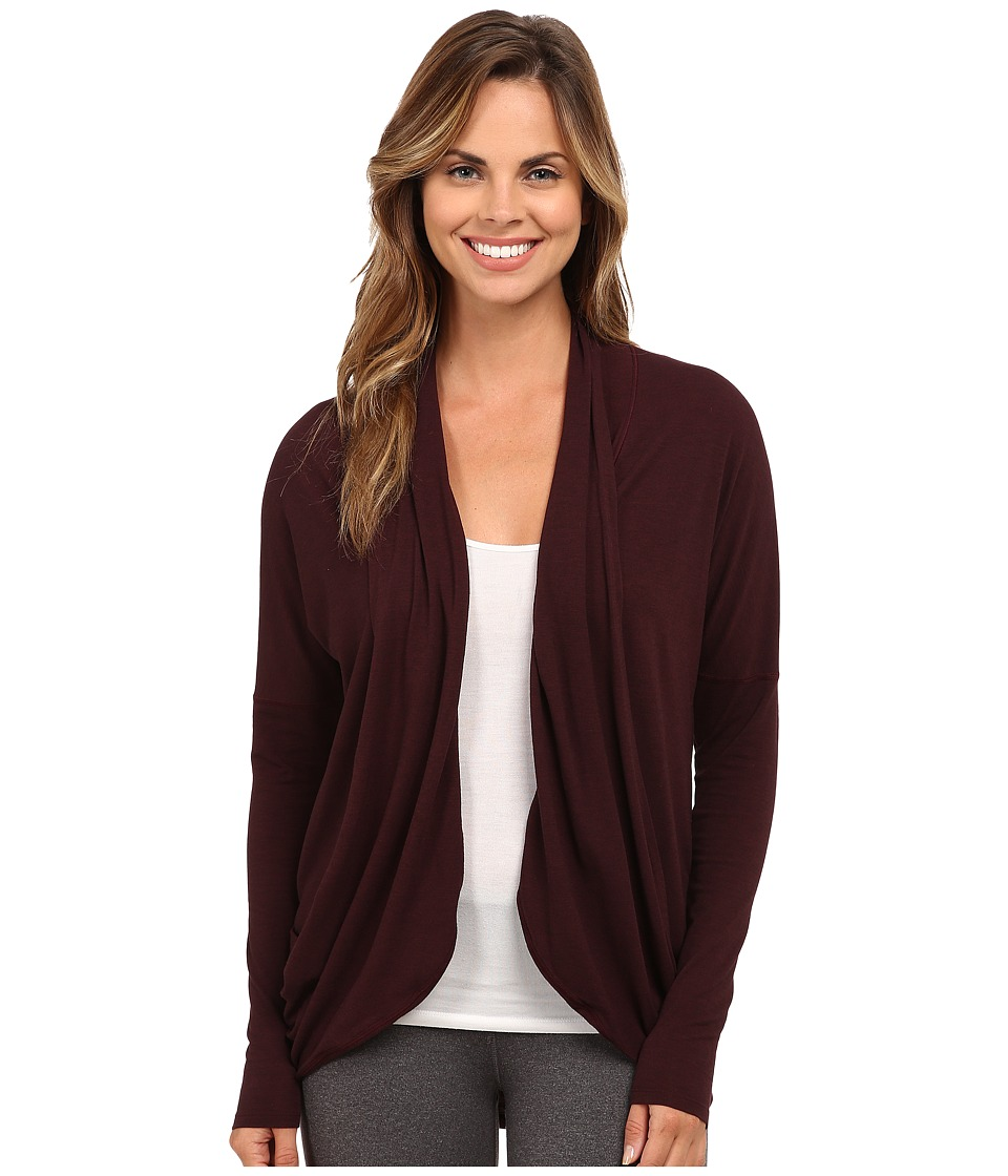 Lucy - Enlightening Wrap (Wild Plum Heather) Women's Long Sleeve Pullover
