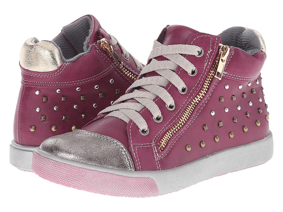 Jumping Jacks Kids - Courtney Balleto (Toddler/Little Kid) (Deep Pink Smooth/Pewter) Girls Shoes
