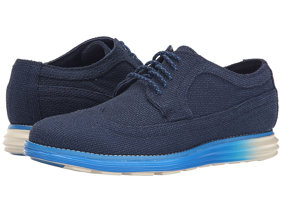 Cole Haan - Lunargrand Long Wing (Blazer Blue Textile) Men's Lace up casual Shoes