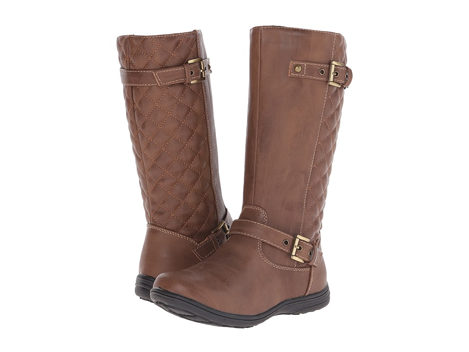 Jumping Jacks Kids - Brandy Balleto (Toddler/Little Kid/Big Kid) (Walnut Smooth/Walnut Quilted) Girls Shoes