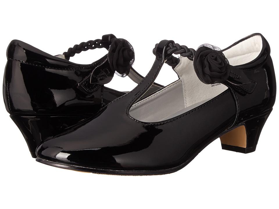 Jumping Jacks Kids - Balleto - Kate (Little Kid/Big Kid) (Black Shiny/Black) Girls Shoes