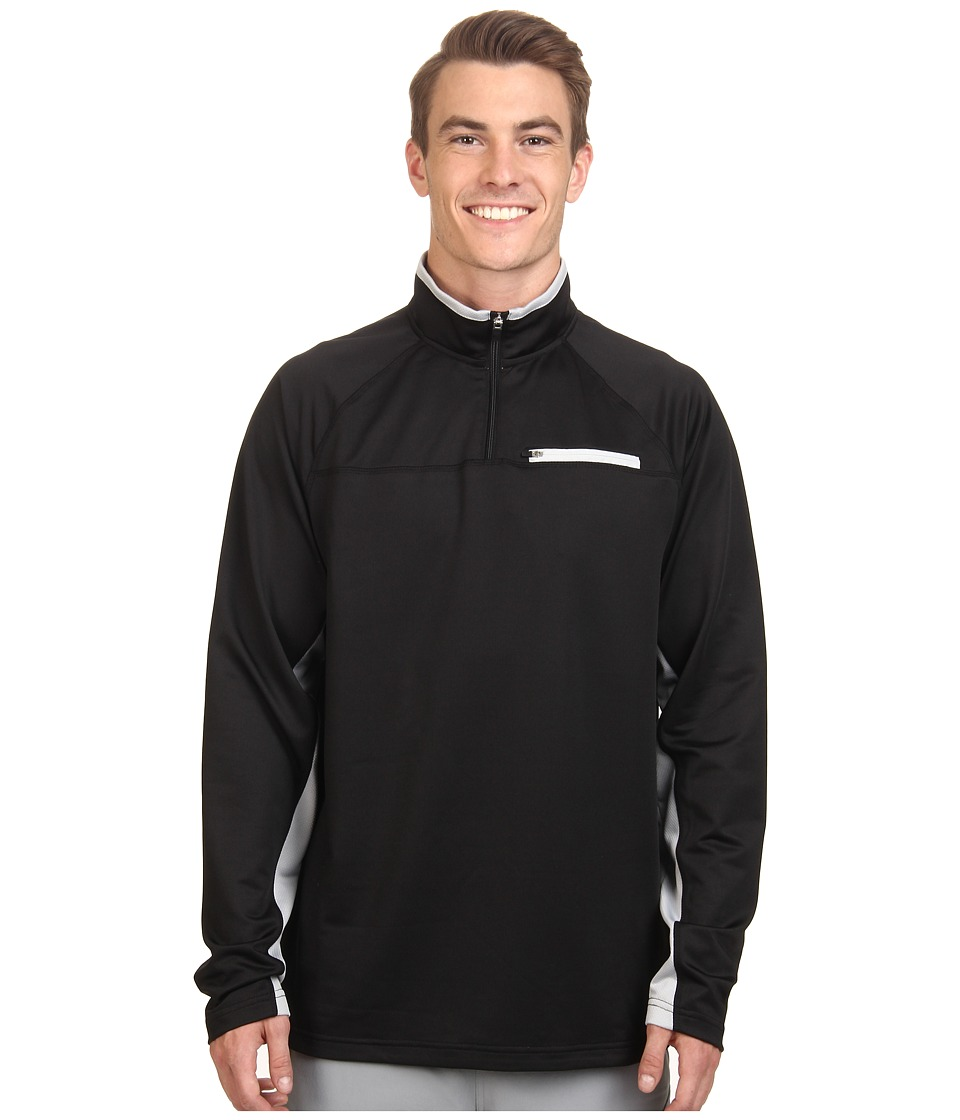 Fila 1/4 Zip Pullover (Black/Highrise) Men