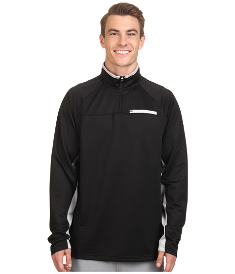 Fila - 1/4 Zip Pullover (Black/Highrise) Men's Sweatshirt