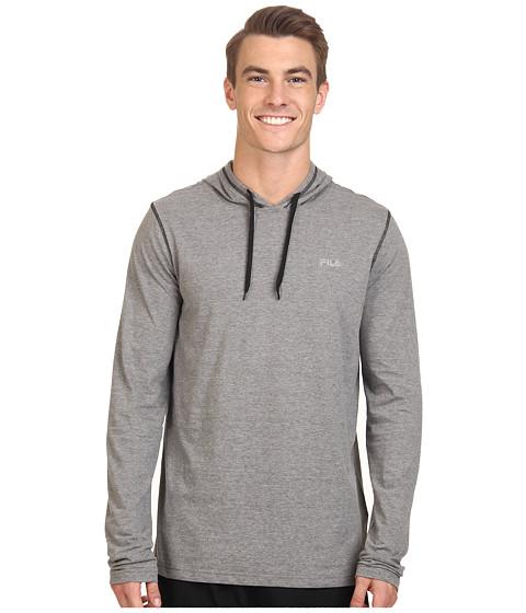 Fila - Supersoft Hoodie (Varsity Heather/Black) Men's Sweatshirt