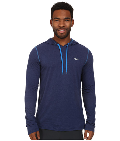 Fila - Supersoft Hoodie (Navy/Heather/Electric Blue) Men