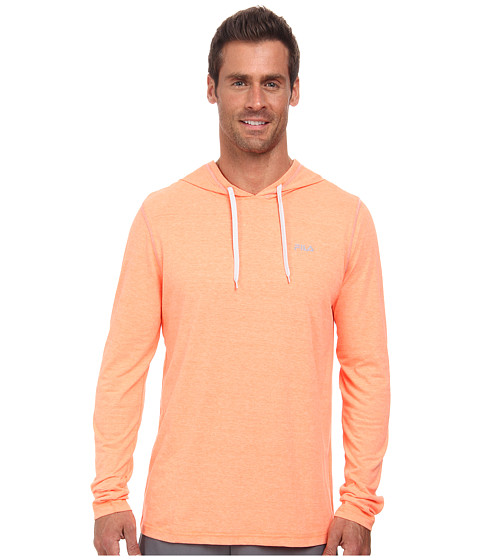 Fila - Supersoft Hoodie (Shocking Orange Heather/Highrise) Men