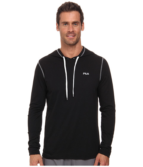 Fila - Supersoft Hoodie (Black/Highrise) Men's Sweatshirt