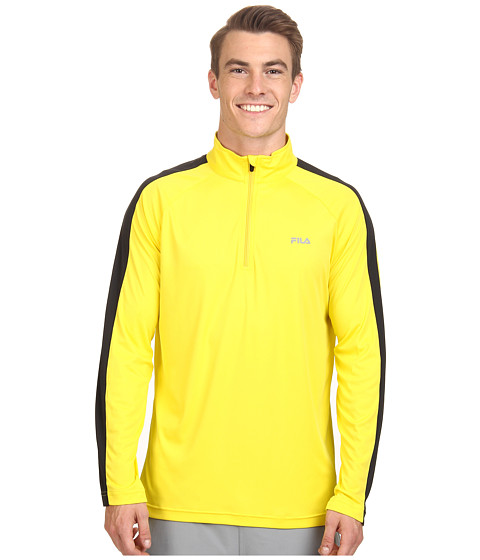Fila - Run It Half Zip (Blazing Yellow/Black) Men's Sweatshirt