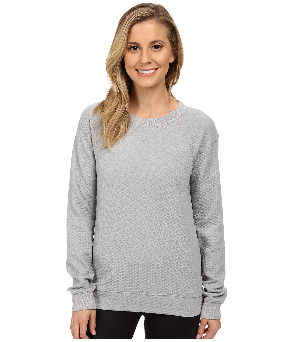 Lucy - Quilted Inner Strength Long Sleeve (Sleet Grey Heather 1) Women's Long Sleeve Pullover