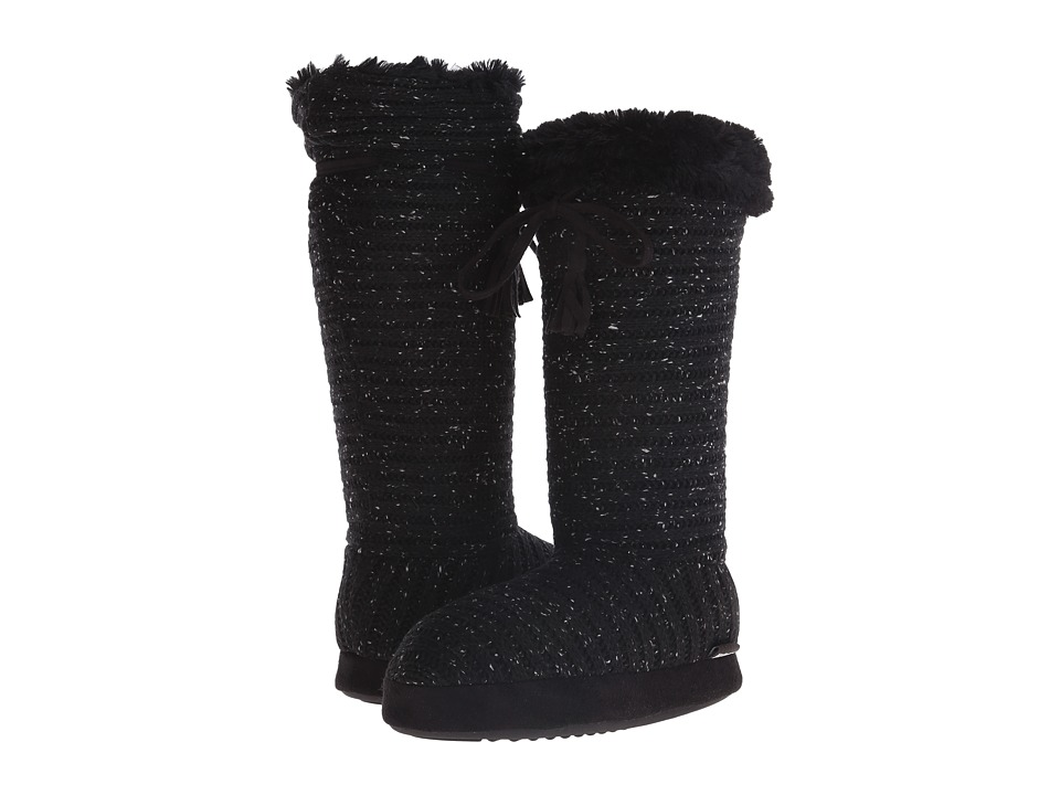 MUK LUKS - Tall Slipper Boot (Black) Women's Boots
