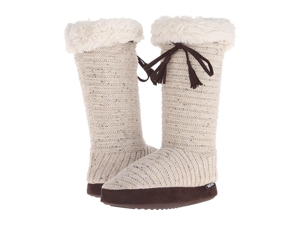 MUK LUKS - Tall Slipper Boot (Natural) Women