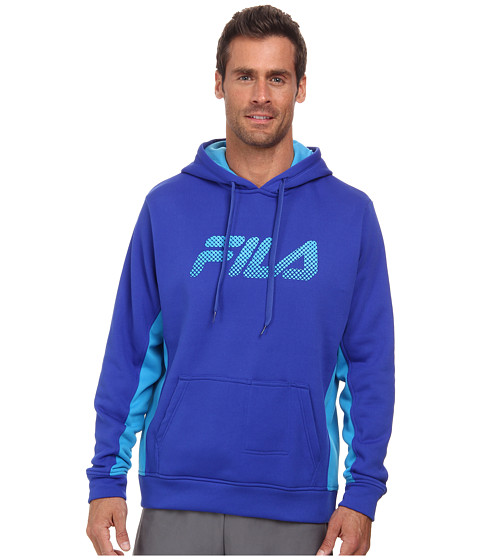 Fila - In The Hood Pullover (Surf The Web/Ocean Blue) Men's Sweatshirt