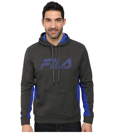 Fila - In The Hood Pullover (Black Heather/Surf The Web) Men's Sweatshirt