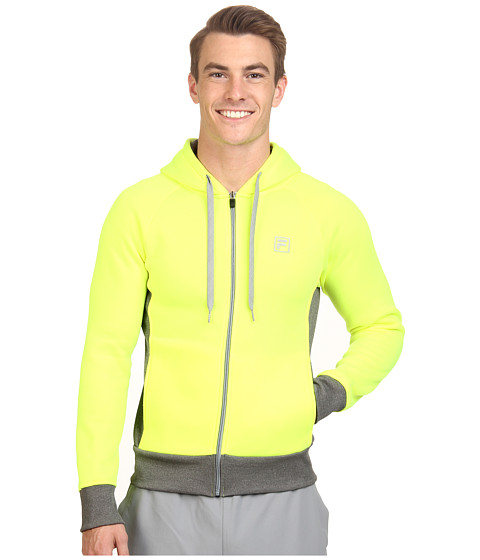 Fila - Triumph Fleece Hoodie (Safety Yellow/Varsity Heather) Men's Sweatshirt