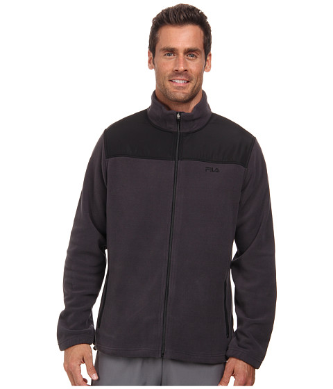 Fila - Arctic Fleece Jacket (Ebony/Black) Men's Coat