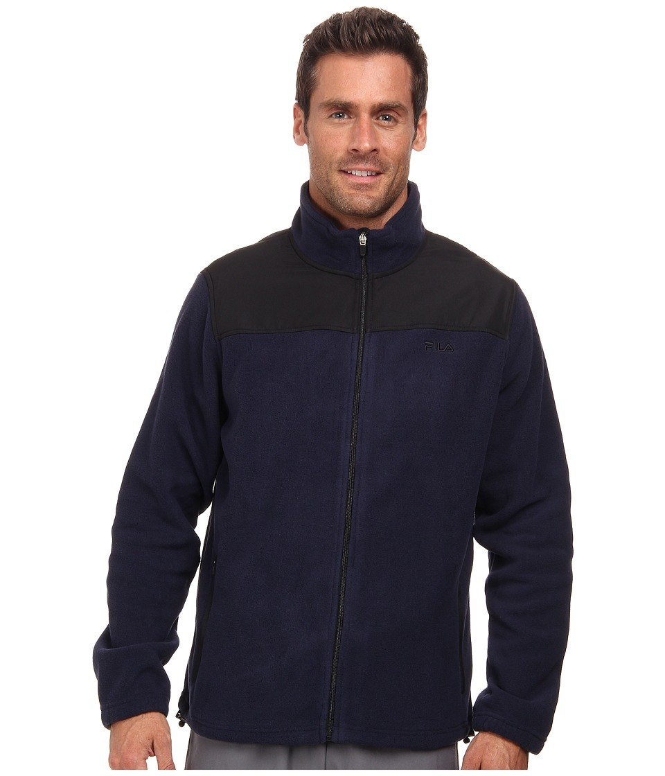 Fila - Arctic Fleece Jacket (Peacoat/Black) Men's Coat