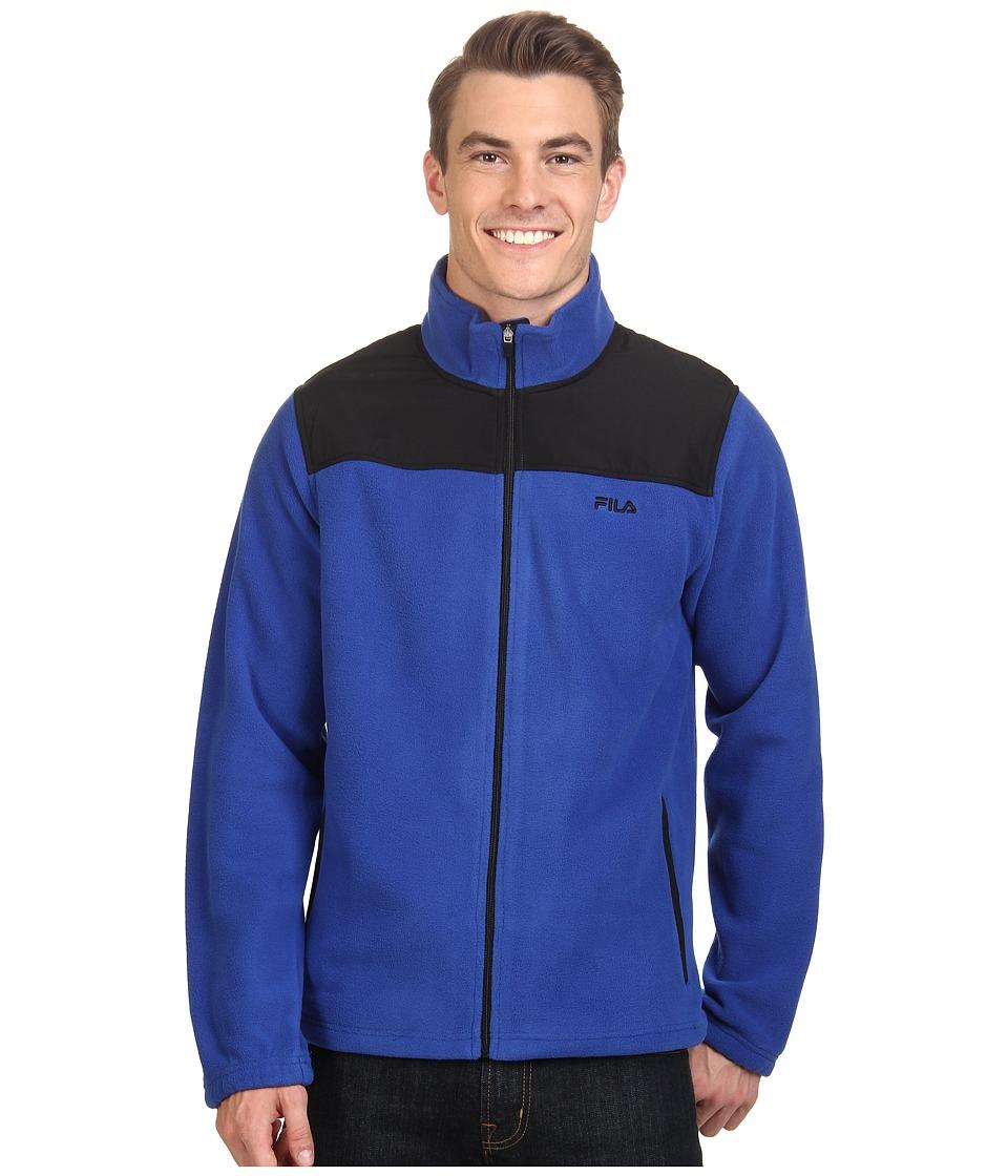 Fila - Arctic Fleece Jacket (Surf The Web/Black) Men's Coat