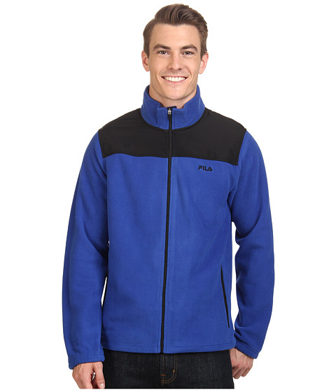 Fila - Arctic Fleece Jacket (Surf The Web/Black) Men's Coat