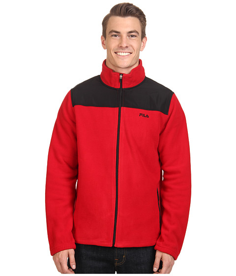 Fila - Arctic Fleece Jacket (Jester Red/Black) Men