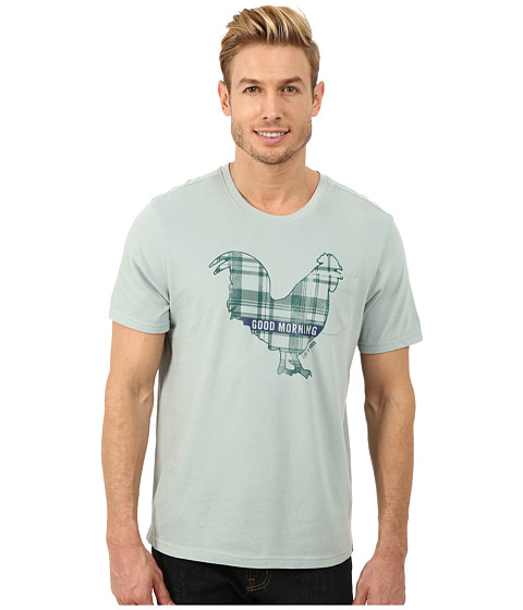 Life is good - Pocket Sleep Tee (Washed Blue) Men's Pajama