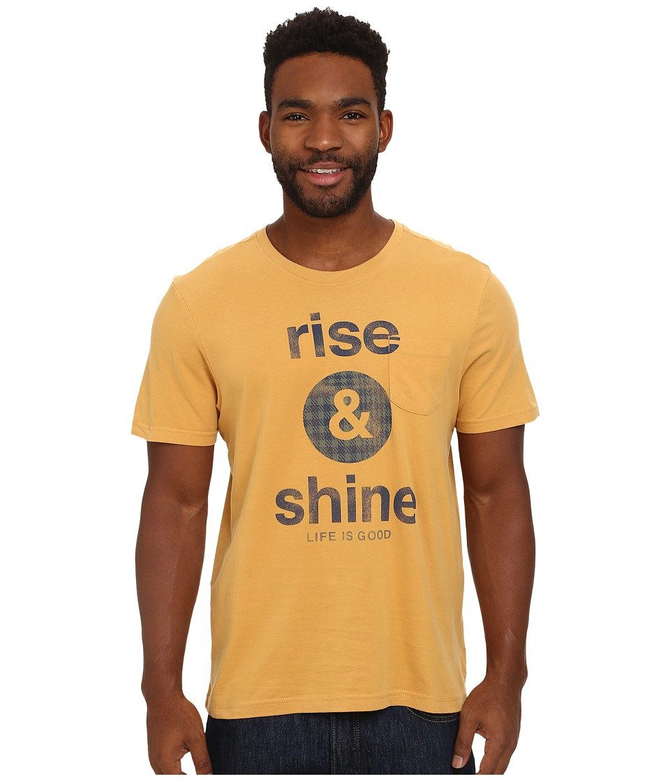 Life is good - Pocket Sleep Tee (Antique Gold) Men