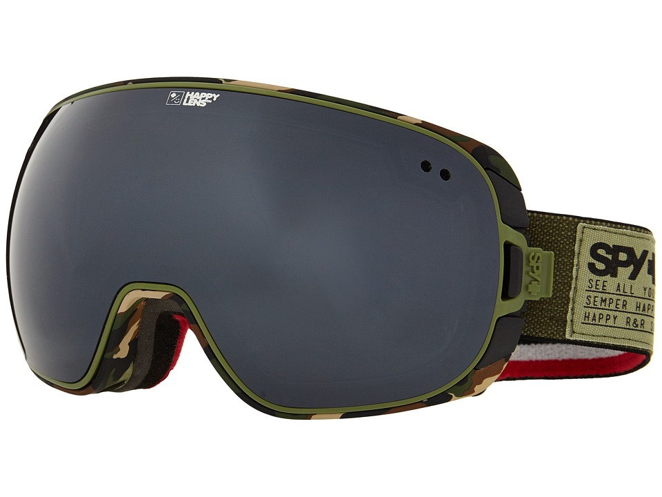 Spy Optic - Doom (Fatigue/Happy Gray Green/Silver Mirror/Happy Yellow/Green Spectr) Snow Goggles