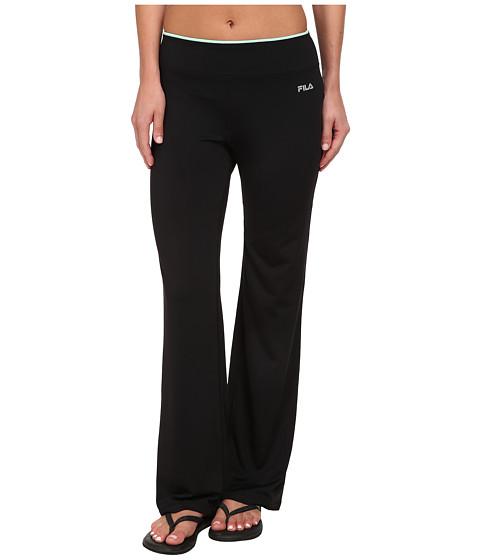 Fila - Boot Cut Pant (Black/Honeydew) Women's Workout