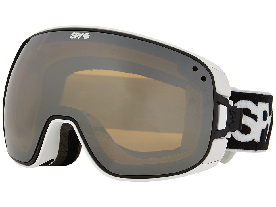 Spy Optic - Bravo (White/Bronze/Silver Mirror/Persimmon Contact) Snow Goggles