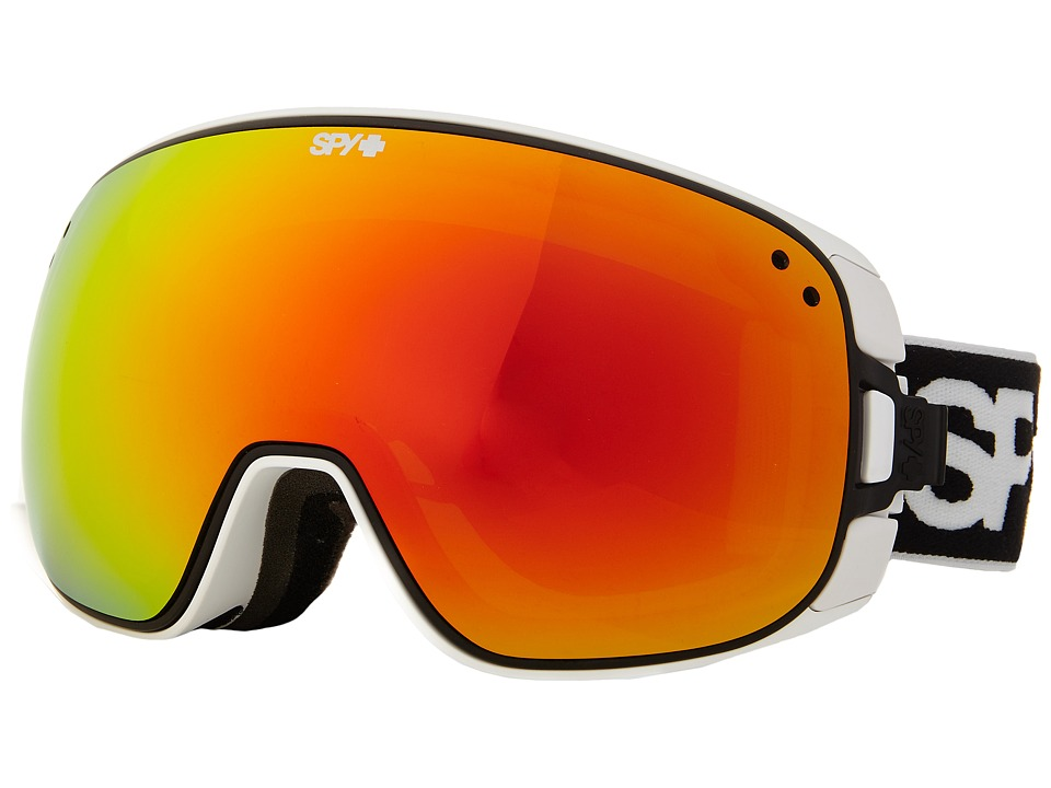 Spy Optic - Bravo (White/Bronze/Red Spectra/Blue Contact) Snow Goggles