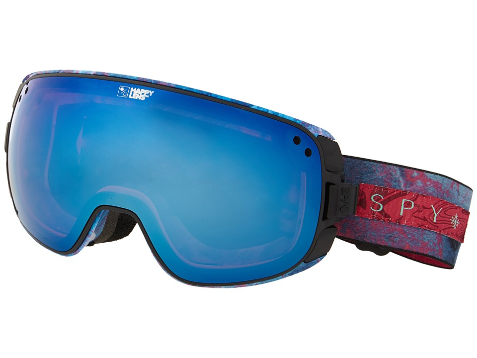 Spy Optic - Bravo (Marbled Purple/Happy Rose/Dark Blue Spectra/Happy Gray Green) Snow Goggles